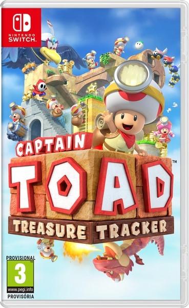 Cover des Spiels: Toad mit einer Kopflampe vorne rechts, im Hintergrund sind viele Nintendo Charaktere zu sehen