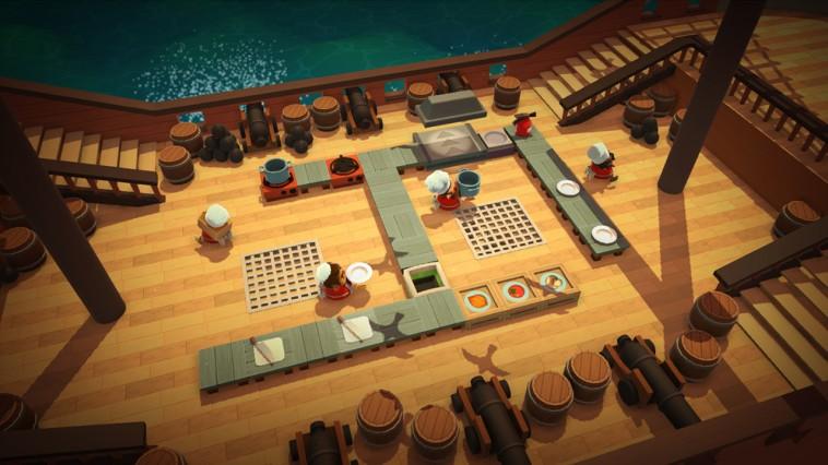 Screenshot: eine Küche auf einem Schiff