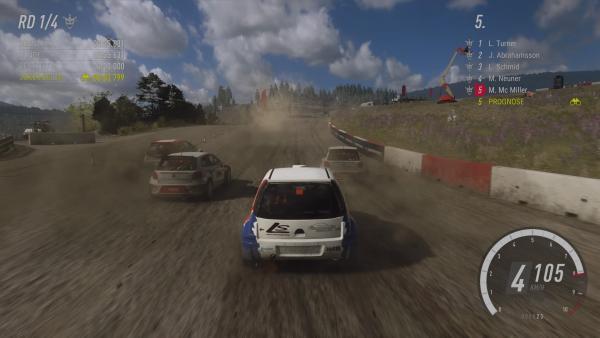 Screenshot des Spiels - Rennen