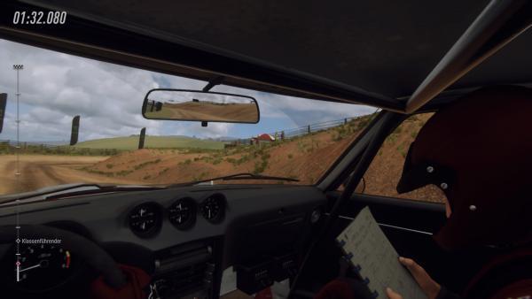 Screenshot des Spiels - Blick aus dem Fahrzeug