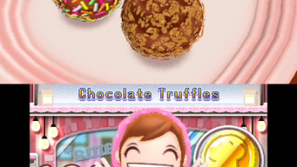 Screenshot: die Endwertung von den gebackenen Schokoladenkugeln