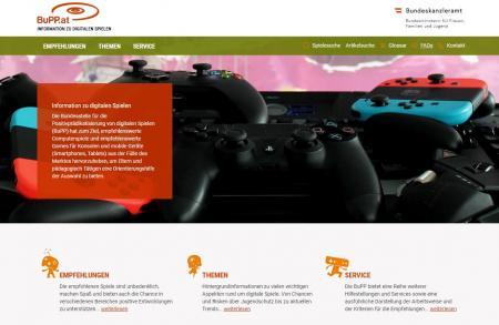 Screenshot der Startseite der Website der BuPP