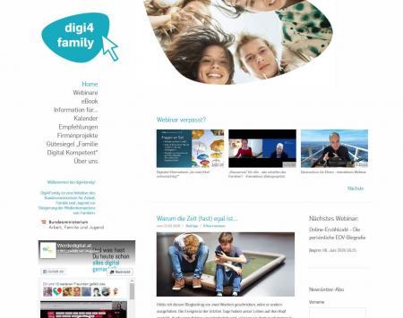 Startseite der Initiative Digi4Familiy
