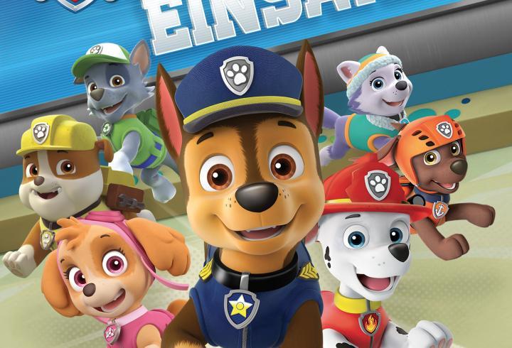 Cover des Spiels: Hunde mit verschiedenen Kostümen, verkleidet als Polizisten, Feuerwehr etc.
