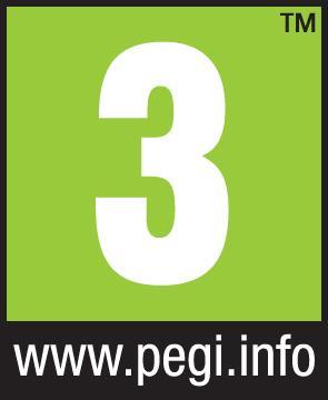Logo PEGI für die Altersfreigabe 3 Jahre mit Angabe der Website